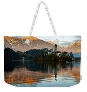 Sunset Over Lake Bled Weekender Tote Bag