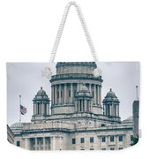 The Rhode Island State House On Capitol Hill In Providence Weekender Tote Bag