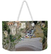 This Is A View Of Furore A Small Village Located On The Amalfi Coast In Italy  Weekender Tote Bag