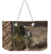 U.s. Soldier Conducts A Combat Training Weekender Tote Bag