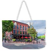 Outdoor Cafe In Gastown, Vancouver, British Columbia, Canada Weekender Tote Bag