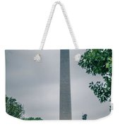 Washington Mall Monumet On A Cloudy Day Weekender Tote Bag
