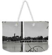 Washington Memorial In Washington Dc Weekender Tote Bag