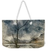 Watercolour Painting Of Beautiful Autumn Fall Landscape Image Of Weekender Tote Bag