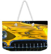 Yellow Corvette Weekender Tote Bag