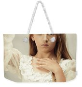 Young Girl Wearing A Crown Weekender Tote Bag