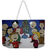 50 Years A Charlie Brown Christmas Acrylic Painting Weekender Tote Bag