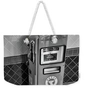 50's Gas Pump Bw Weekender Tote Bag