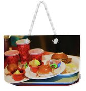 50's Style Food Malt Hamburger Tray  Weekender Tote Bag