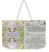 Interfaith Or Reformed Ketubah To Fill Weekender Tote Bag