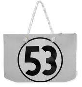 53 Herbie B W Weekender Tote Bag