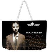5499 Fight Club Hd S Black Weekender Tote Bag