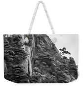 5782- Yellow Mountains Black And White Weekender Tote Bag