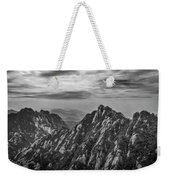 58462 Yellow Mountains Black And White Weekender Tote Bag