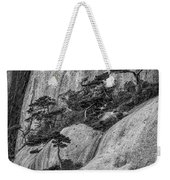 5867- Yellow Mountains Black And White Weekender Tote Bag