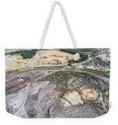 Aerial View Over The Building Materials Processing Factory.  Weekender Tote Bag
