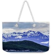 Alaska Nature And Mountain In June At Sunset Weekender Tote Bag