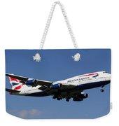 British Airways Boeing 747 Weekender Tote Bag