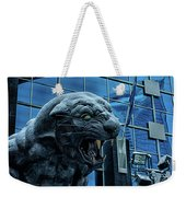 Carolina Panthers Statue Covered In Snow Weekender Tote Bag