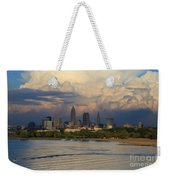 Cleveland Skyline From A Distant Park Weekender Tote Bag