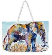 Colorful Cute Elephant Weekender Tote Bag