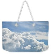 Dramatic Cumulus Clouds With High Level Cirrocumulus Clouds For  Weekender Tote Bag