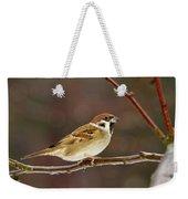 Eurasian Tree Sparrow Weekender Tote Bag