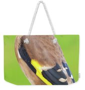 European Goldfinch Bird Close Up   Weekender Tote Bag