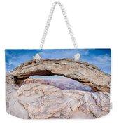 famous Mesa Arch in Canyonlands National Park Utah  USA Weekender Tote Bag