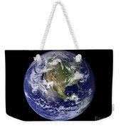 Full Earth Showing North America Weekender Tote Bag by Stocktrek Images