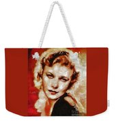 Ginger Rogers Hollywood Actress And Dancer Weekender Tote Bag
