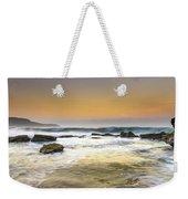 Hazy Dawn Seascape With Rocks Weekender Tote Bag