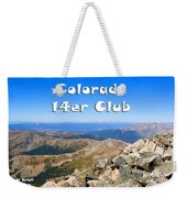 Hikers And Scenery On Mount Yale Colorado Weekender Tote Bag