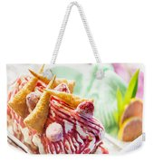 Italian Gelato Gelatto Ice Cream Display In Shop Weekender Tote Bag