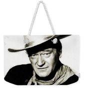 John Wayne, Vintage Actor By Js Weekender Tote Bag