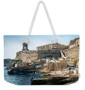 La Valletta Old Town Fortifications Architecture Scenic View In  Weekender Tote Bag