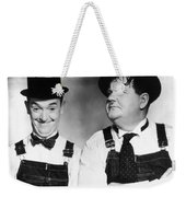 Laurel And Hardy Weekender Tote Bag by Granger