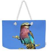 Lilac Breasted Roller Weekender Tote Bag