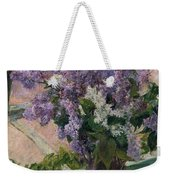 Lilacs In A Window Weekender Tote Bag