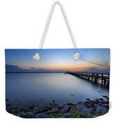 Melbourne Beach Pier Sunset Weekender Tote Bag