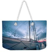 Newport Rhode Island Harbor With Tall Ships At Sunset Weekender Tote Bag