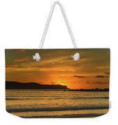 Orange Sunrise Seascape Weekender Tote Bag