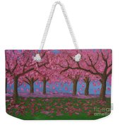 Pink Garden, Oil Painting Weekender Tote Bag