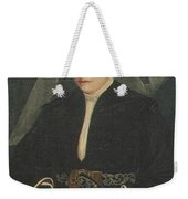 Portrait Of A Lady Holding A Rosary Weekender Tote Bag