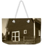 Barn And Wild Flowers Sepia Weekender Tote Bag