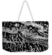 Rocky Mountains In Colorado With Snow Aerial Black And White Weekender Tote Bag