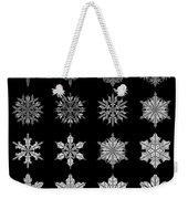 Snowflake Simulation Weekender Tote Bag