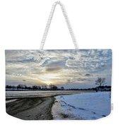 Sunset Over Obear Park In Snow Weekender Tote Bag