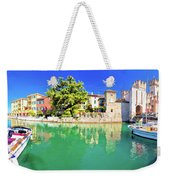 Town Of Sirmione Entrance Walls View Weekender Tote Bag