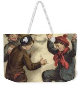 Vintage Christmas Card Weekender Tote Bag